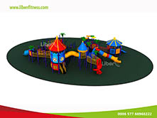 Commercial Kids Playground Play Structures For Amusement Park