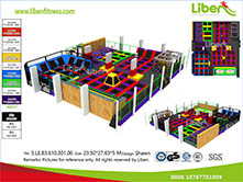 China Professional indoor trampoline park factory