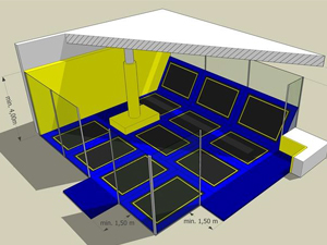 What are the basic trampoline park's ASTM safety standards ?