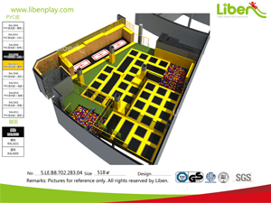 Free Customized indoor trampoline park design for Shopping center