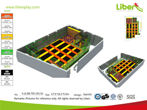 300 Sqm trampoline park project in Romania